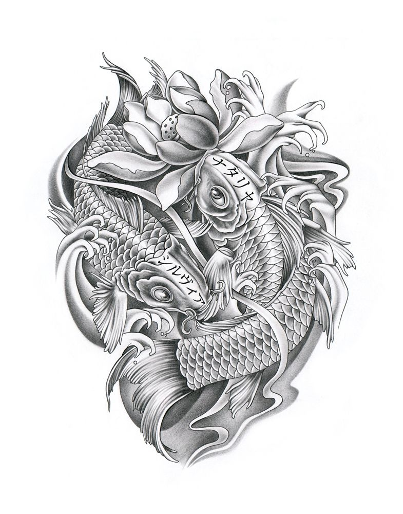 Family Koi Fishes By Ca5per On Deviantart Koi Dragon Tattoo Koi Tattoo Design Koi Tattoo Sleeve