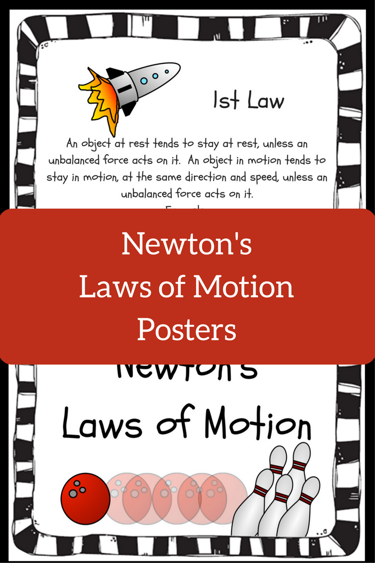 Newton S Laws Of Motion Posters Bulletin Board Set Newtons Laws Newtons Laws Of Motion Newton S Laws Of Motion