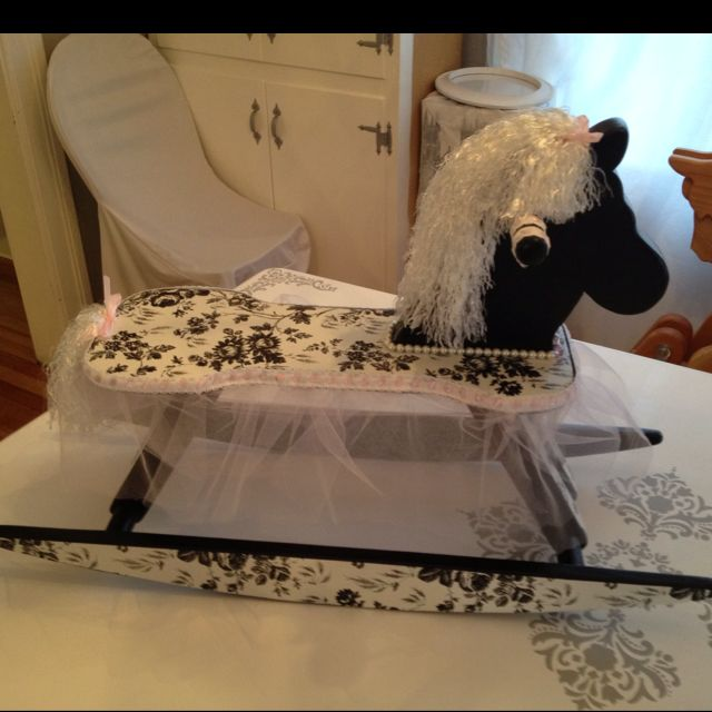 rocking horse my husband and i made for my friends baby shower, Baby shower invitation