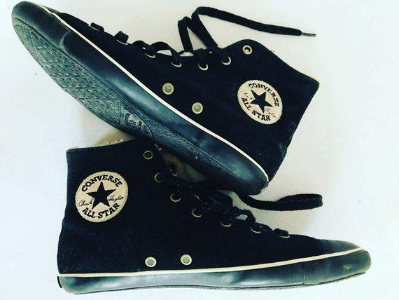 Converse Boots   Sneakers   Warm inside  Winter   Felted   Retro   All Star    US 7 1 2   UK 5 1 2 EU efd1b90ba