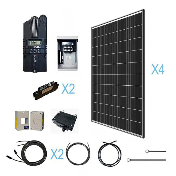 1200 Watt 12 Volt Monocrystalline Solar Kit Renogy Solar In 2020 Solar Kit Solar System Kit Solar Panels