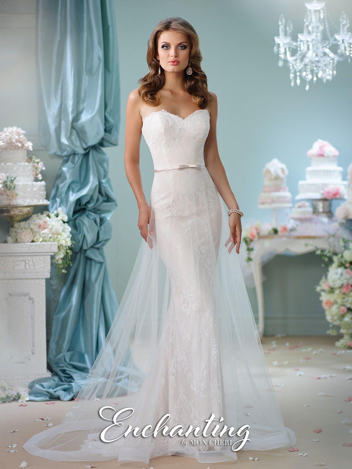 Sweetheart Cage Wedding Dress- 116134- Enchanting by Mon Cheri