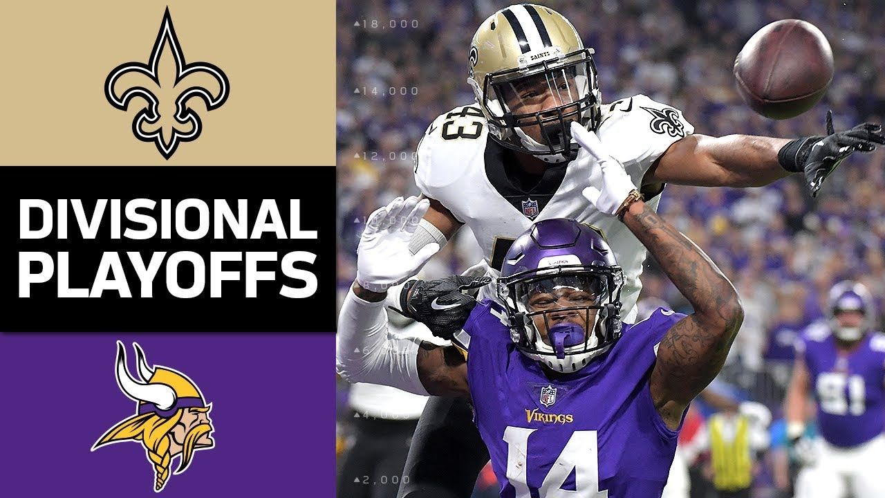 Saints Vs Vikings Nfl Divisional Round Game Highlights