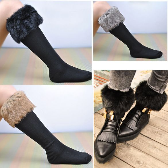 New Hot Classic Woolly Fur Flanging Snow Autumn and Winter Socks Women Faux Fur Bottoming Socks Sexy Floor Socks  //Price: $ US $6.92 & FREE Shipping Worldwide//       #clothing #fashion #makeup #lips #face #dress #lipstick #style #trend