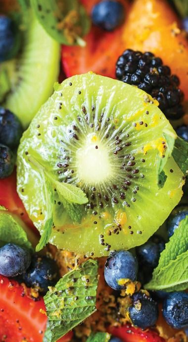 Easy Fruit Salad with Orange Poppy Seed Dressing