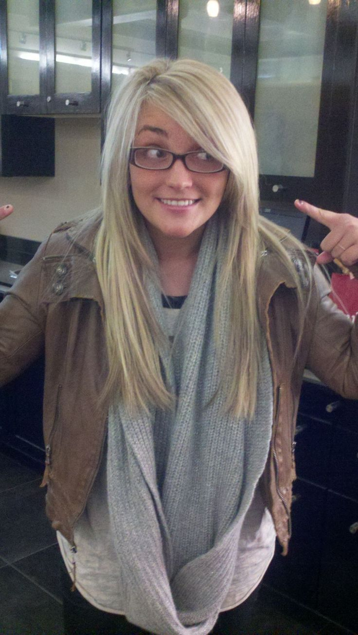 blonde and long, but some style with the side swept bangs and few ...