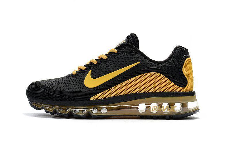 2c2f3acc56c7 New Coming Nike Air Max 2017 5 Max KPU Yellow Black