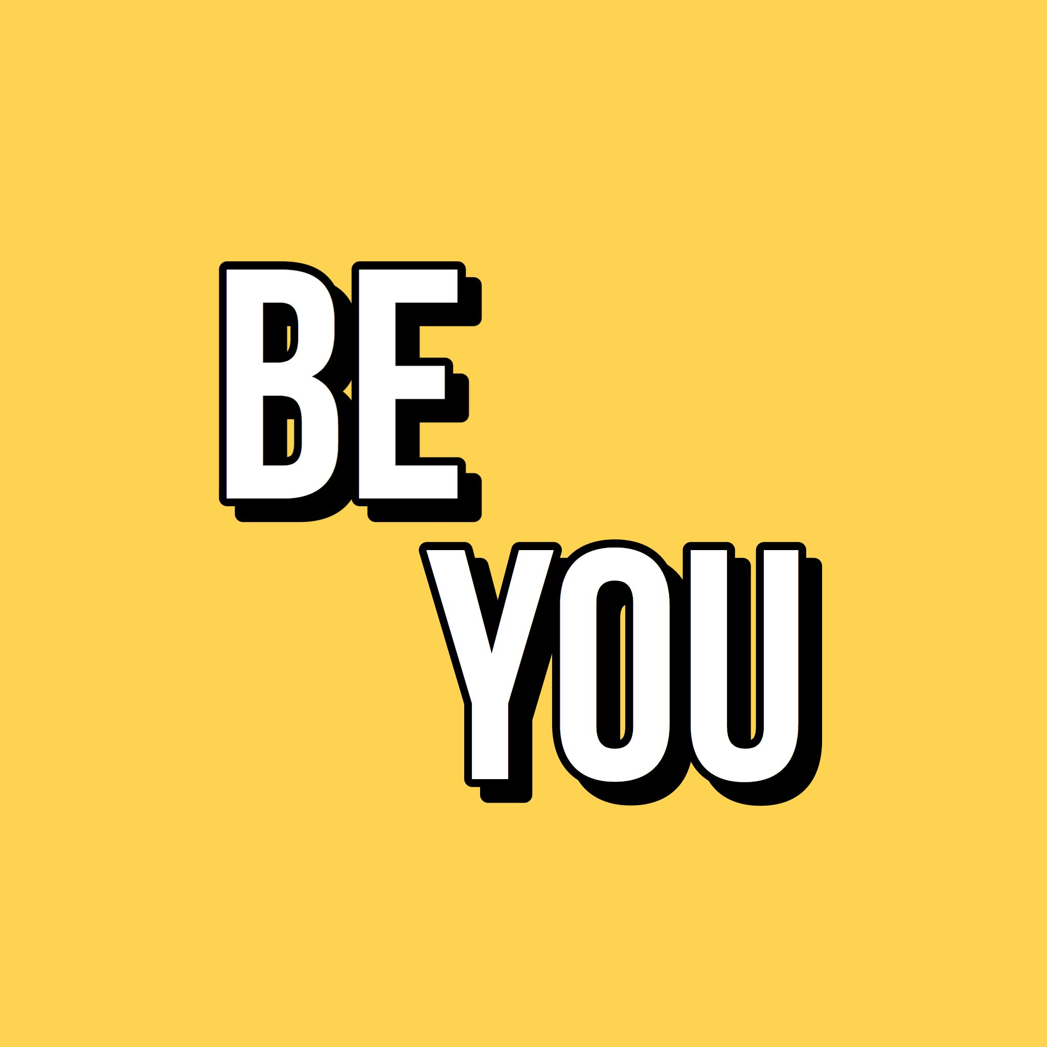 Be You Quote Yellow Vintage Retro Aesthetic Black White Inspirational Confident Quotes Yellow Words Yellow Quotes Vintage Quotes