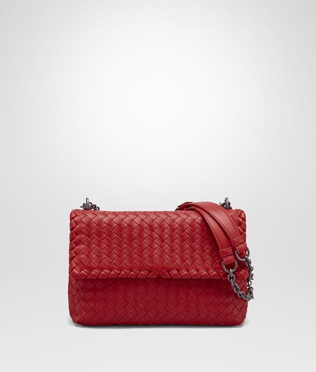 eb7ac15817e2 China Red Intrecciato Nappa Small Olimpia Bag - Bottega Veneta Purse Red
