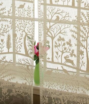 130 Silhouettes Lace Curtain Panels Lace Curtains Country Curtains