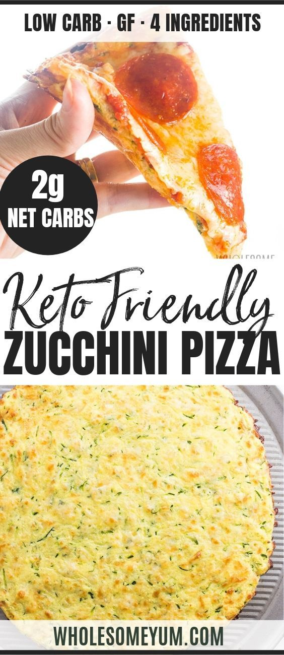 The Best Zucchini Pizza Crust Recipe - Low Carb, 4 Ingredients