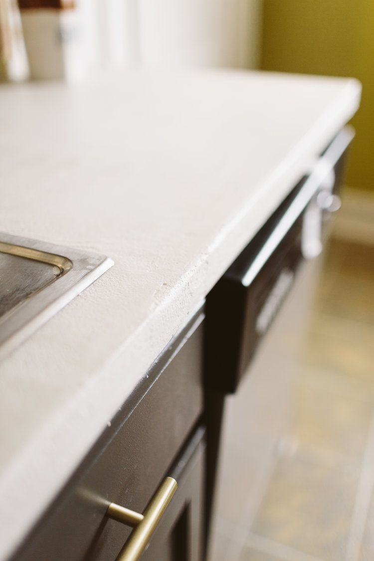 white concrete countertops