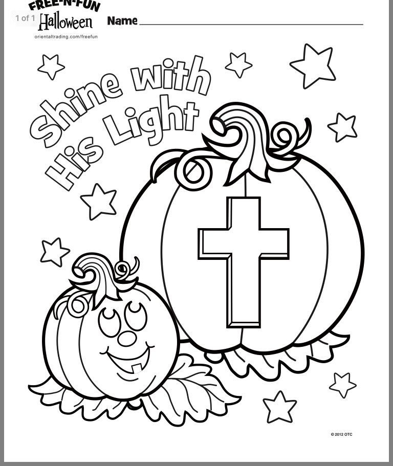 Pin By Judith Gumble On Bible Study Halloween Coloring Pages Sunday School Crafts Christian Halloween