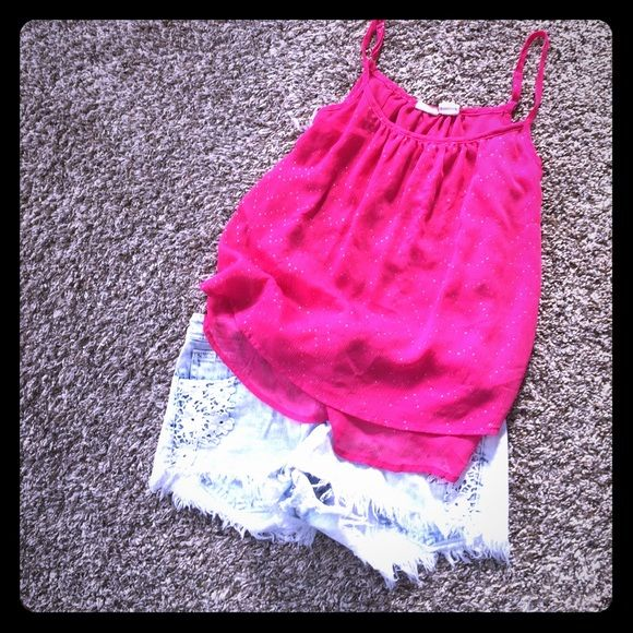 Favorite pink tank! Perfect to wear in the summer with shorts or cover up with a cardigan and wear during the fall with leggings! Mudd Tops Tank Tops