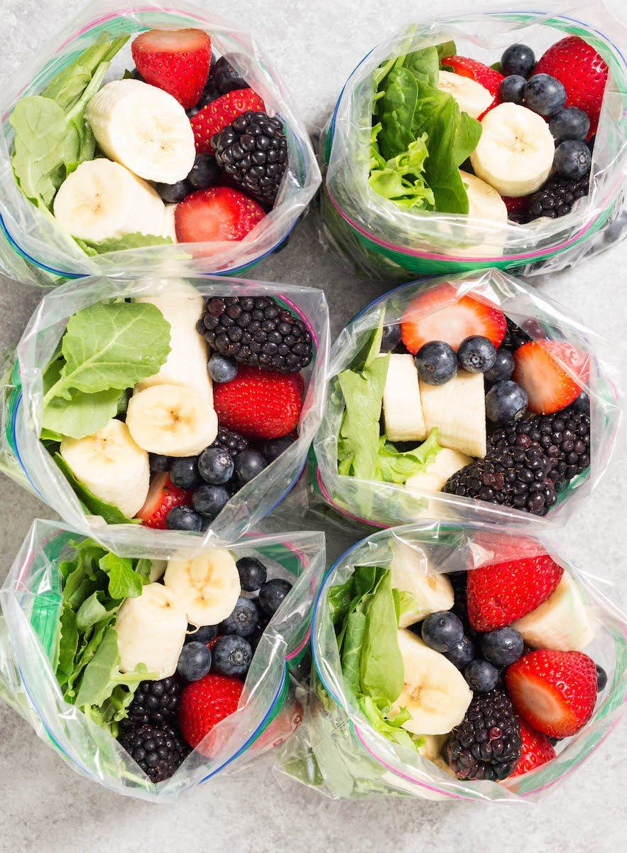 Banana Berry Smoothie Meal Prep images