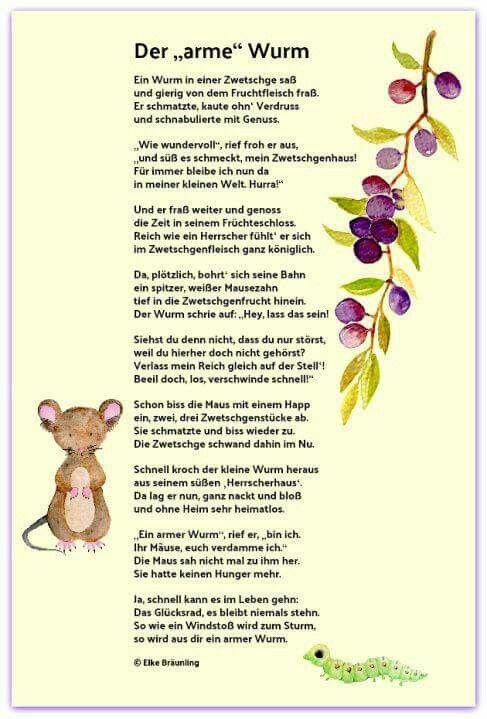 Pin Von Monika Heine Auf Gedichte Kinder Gedichte