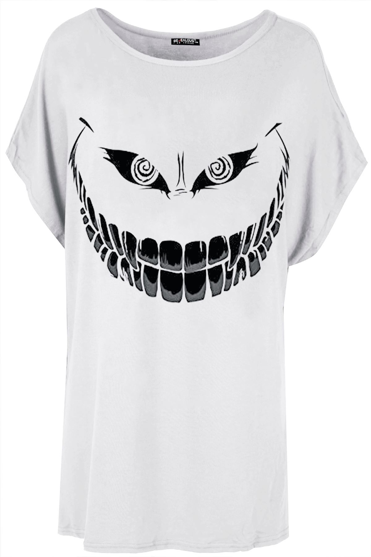 New Ladies Womens Batman Oversized Loose Lagenlook Baggy Sleeve Top Tee T Shirt