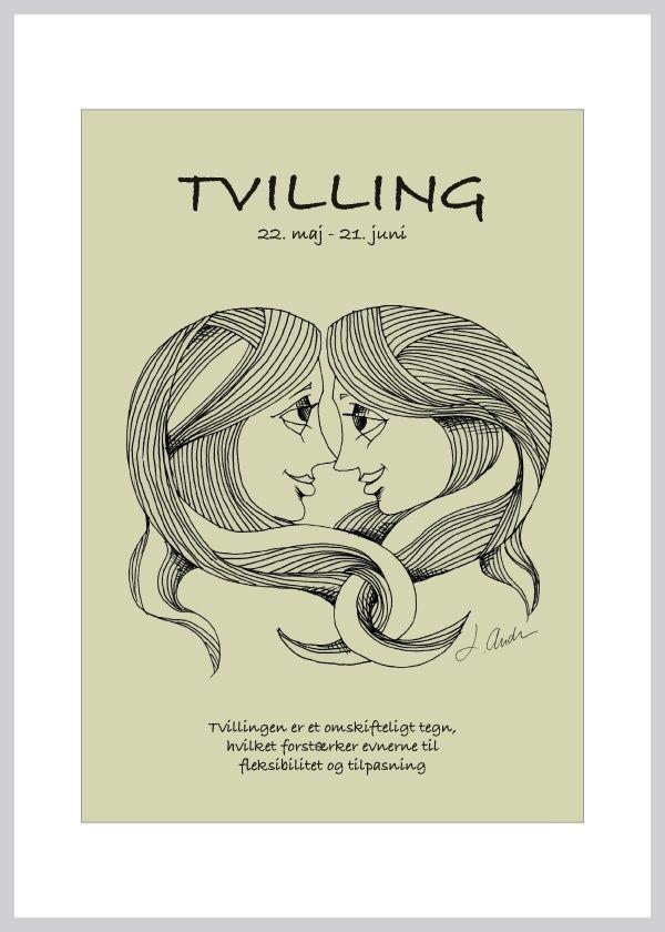 citater om tvillinger Kort m. stjernetegtvillingen fra Ping Pong Posters – køb her  citater om tvillinger
