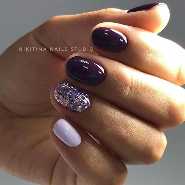 39 Trendy Fall Nails Art Designs Ideas To Look Autumnal Charming Autumn Nail Art Ideas Fall Nail Art Short Nail Purple Nails Pretty Nails Creative Nails