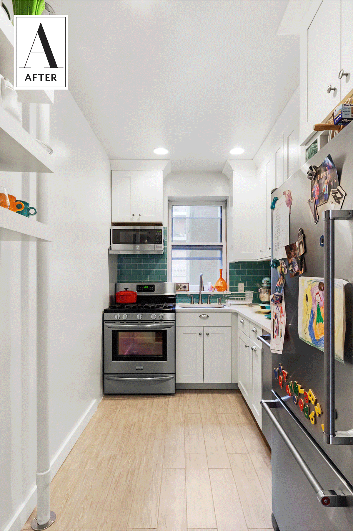 Before & After A Colorful Update For A Cluttered Kitchen  Kitchens Glamorous Brooklyn Kitchen Design Decorating Design