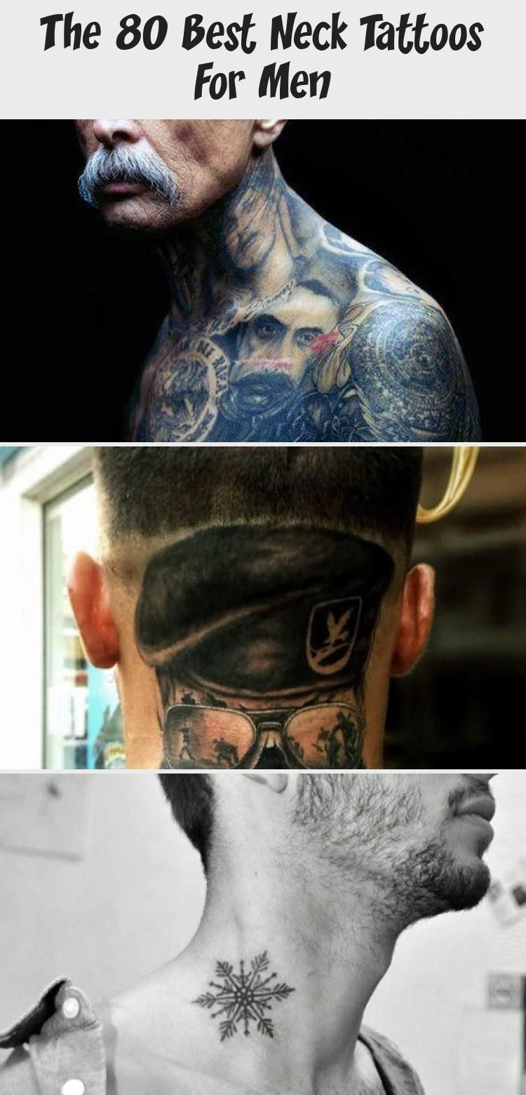 The 80 Best Neck Tattoos For Men - Tattoos and Body Art -  The 80 Best Neck Tattoos for Men | Improb #necktattoosText #Bignecktattoos #Lowernecktattoos #Triba - #angeltatto #Art #body #forearmtatto #matchingtatto #Men #Neck #necktatto #sistertatto #skulltatto #tattoart #tattovrouw #tattoos