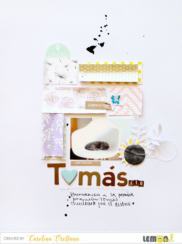 Lemon Owl: Tomás • clean-and-siple layout by Cari
