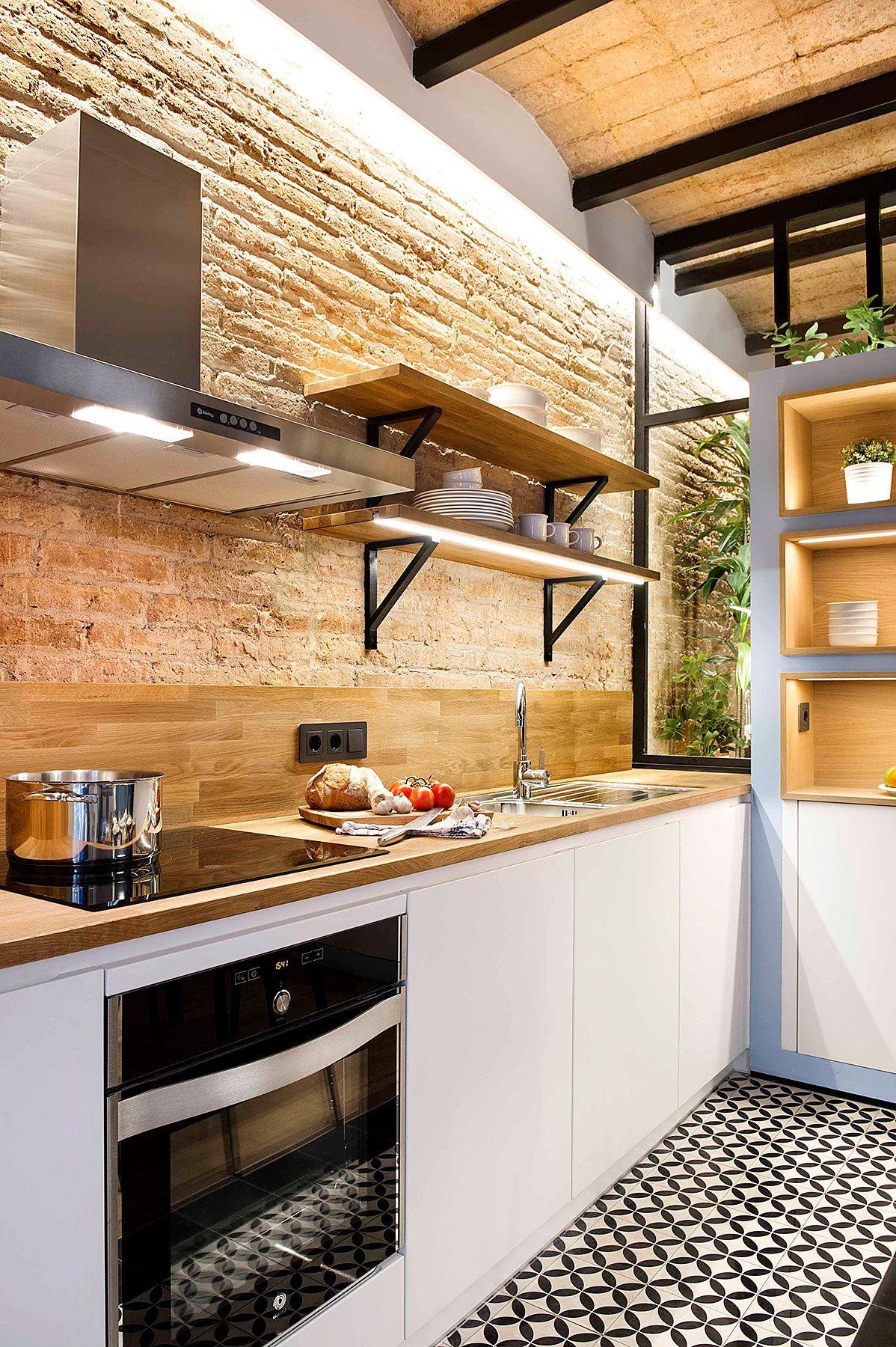 40 metros cuadrados de diseño vibrante - En la cocina, | Galería de ...