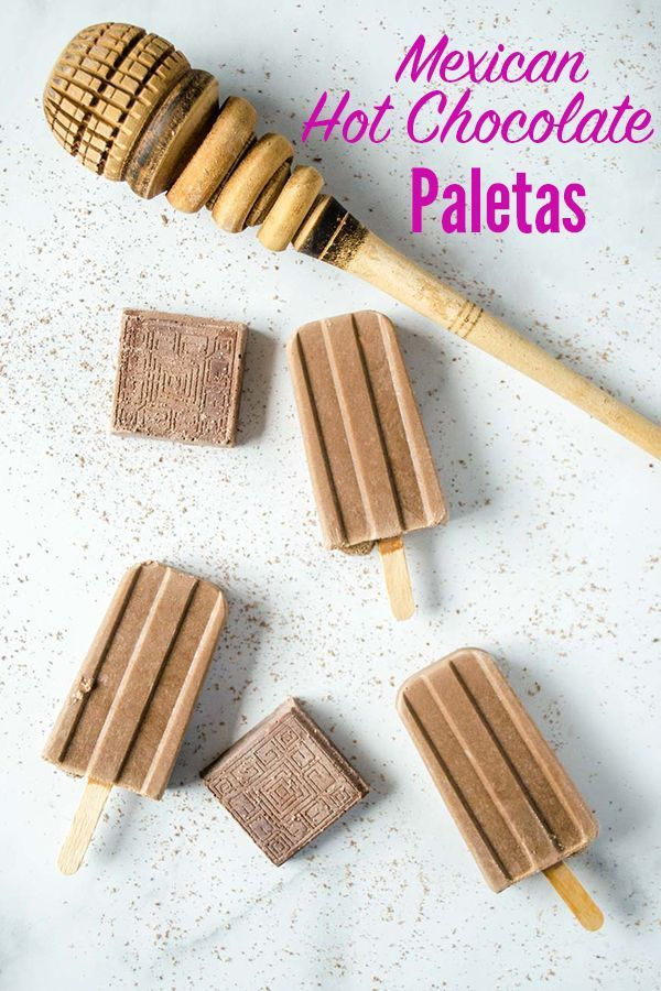 Mexican Hot Chocolate Popsicles (paletas de chocolate) are a healthy homemade treat that is easy to make and the kids will love!