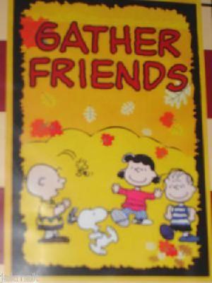 Snoopy The Gang Gather Friends Fall Garden Flag New In Pkg Fall Garden Flag Autumn Garden Snoopy