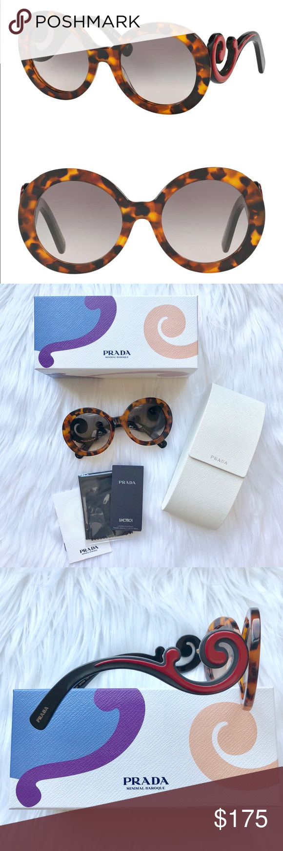 99967759e NEW // Prada Minimal Baroque Sunglasses Authentic Prada SPR 08T ...