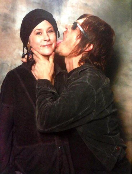 Norman Reedus And Melissa Mcbride The Walking Dead Fear The Walking Dead Melissa Mcbride
