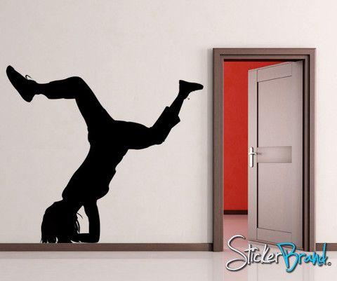 Vinyl Wall Decal Sticker Break Dancer Hip Hop #AC129