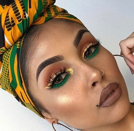 evyxo with images  brown skin makeup yellow eye