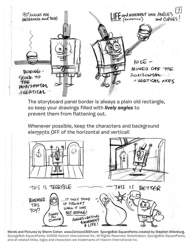 SpongeBob Squarepants - Character Design Page How to Draw - vertical storyboard