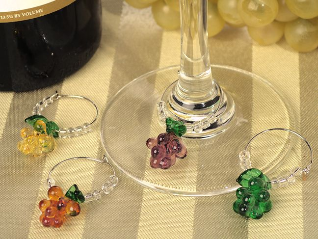 Murano Art Deco Collection G Gl Wine Charms