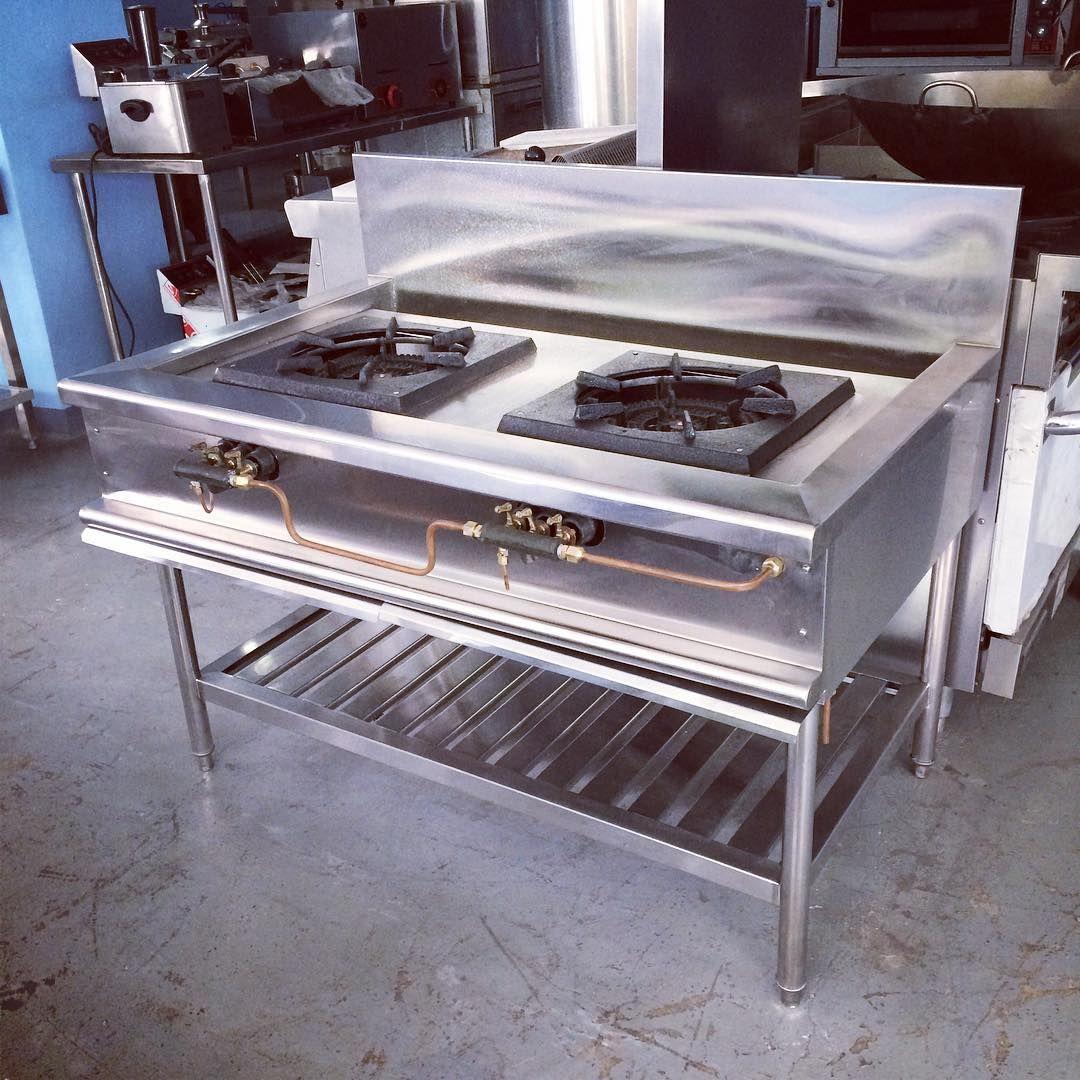 Stainless Steel Low Pressure Burner With Slotted Undershelf