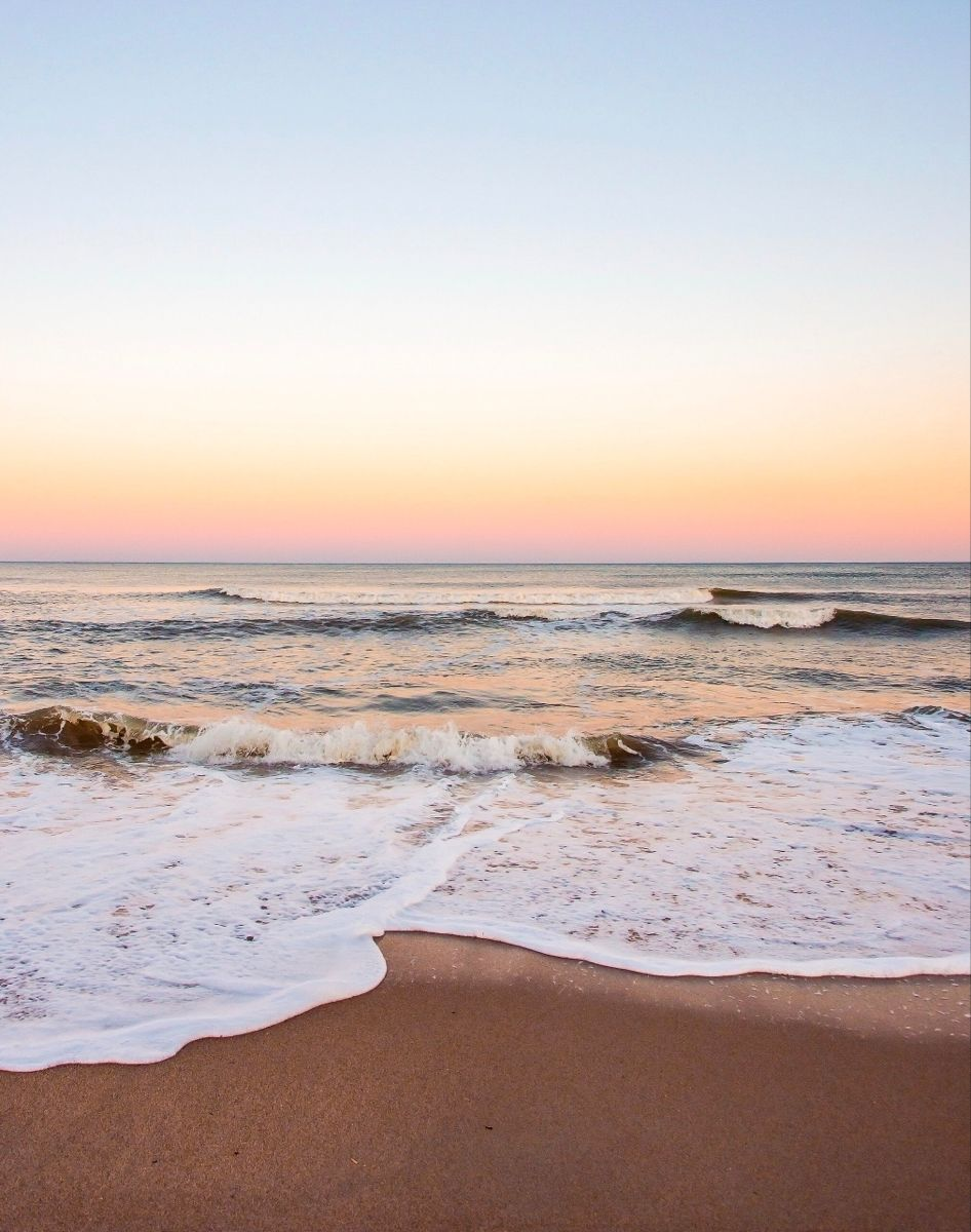 Warm Rainbow Sunset Ocean Photograph  Sunset Beach Art Print | large scale poster | Etsy