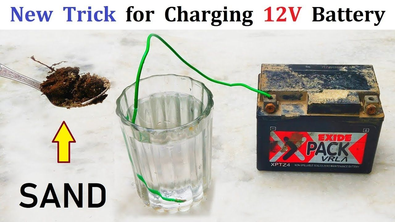 Awesome Idea Charging 12v Battery Using Sand And Water Charge 12v Bat Homemade Generator Diy Generator Free Energy Generator