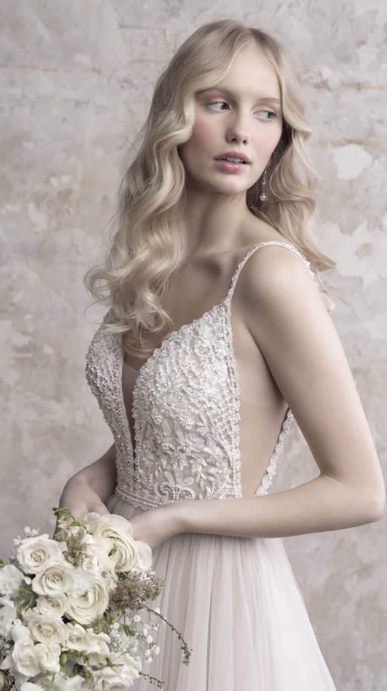 Lace over tulle wedding dress january 2019 Madison James Wedding Dresses for Fall   Wedding Dress Designs