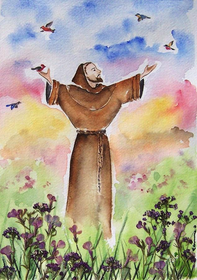 St Francis Of Assisi Canvas Print / Canvas Art by Regina Ammerman ...