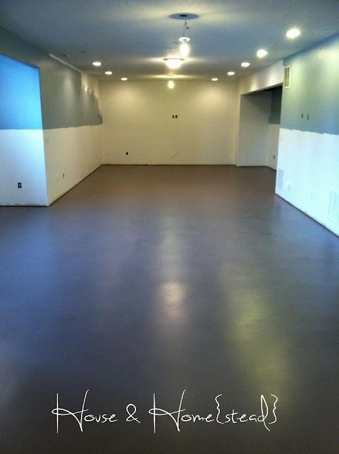 Painted Cement Floors On The Blog Painted Concrete Floors Concrete Basement Floors Basement Flooring