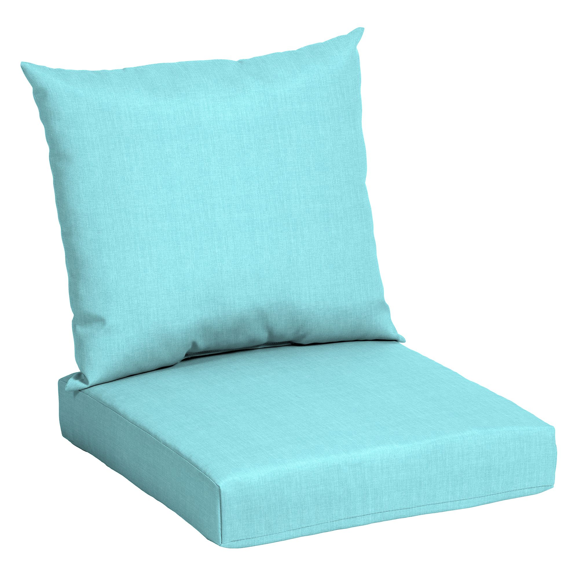 Mainstays Teal 45 X 22 75 In Outdoor Patio Deep Seat Cushion Set Walmart Com Walmart Co Deep Seat Cushions Outdoor Deep Seat Cushions Cheap Patio Cushions