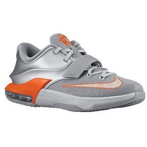 huge discount 2330f 34d4c Nike KD 7 - Boys  Grade School - Durant, Kevin - Met Silver Wolf Grey Pure  Platinum Urb Orange