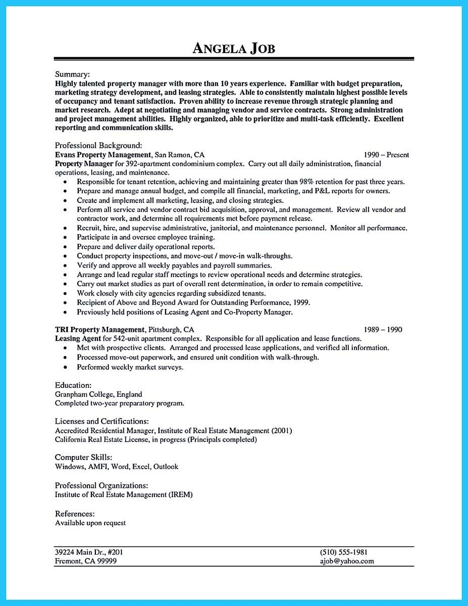 nice Writing a Great Assistant Property Manager Resume, Check more ...