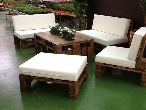 Resultado de imagen para muebles de jardin con tarimas Terraza y