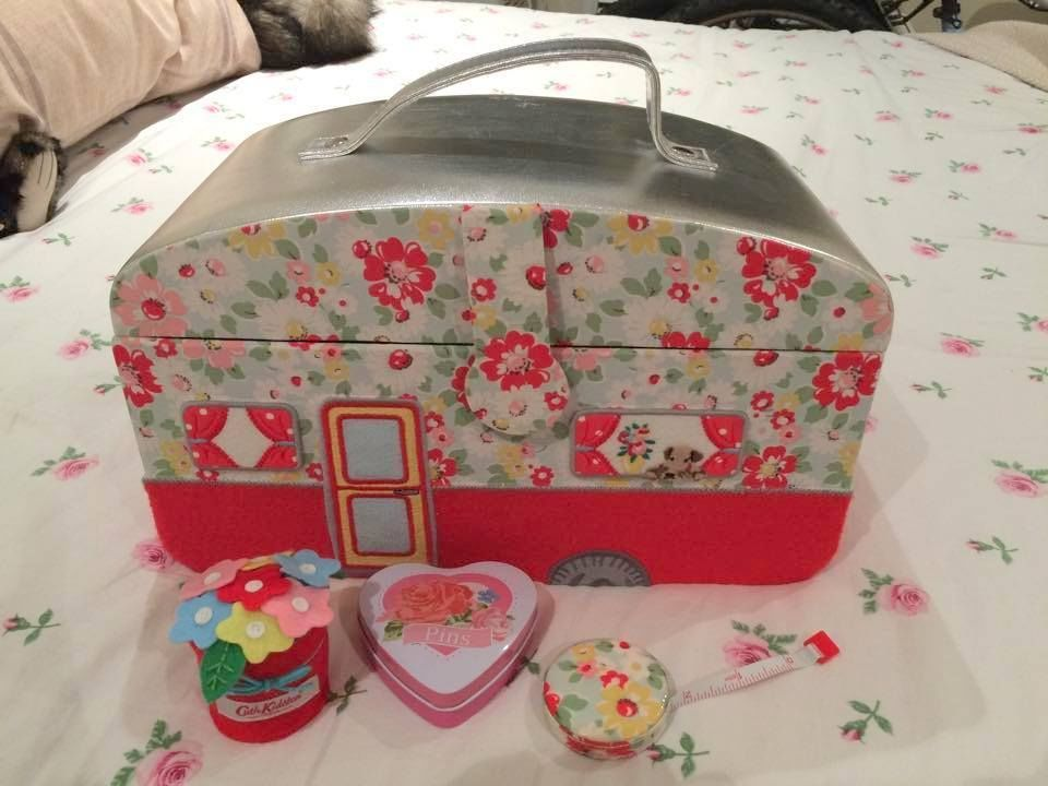 Cath Kidston Caravan Sewing Box Basket in Collectables, Sewing/ Fabric/ Textiles, Boxes/ Baskets | eBay
