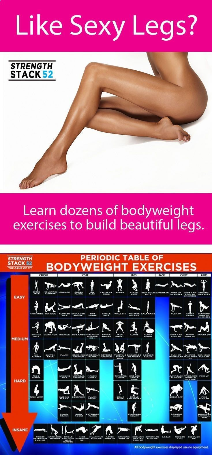Learn The Bodyweight Exercises That Sculpt Beautiful Y Legs Theyre Organized By Difficulty