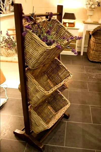 Beau Palermo 3 Tier Storage Baskets On Wooden Frame. I Saw This Or Something  Very Similar