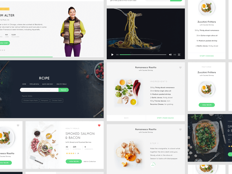 Free Sketch - Recipe UI kit