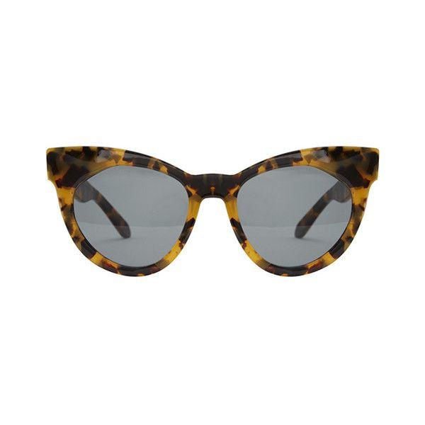 136f858fe1c6 Karen Walker Starburst Crazy Tort & Gold ($108) ❤ liked on Polyvore  featuring accessories, eyewear, sunglasses, karen walker glasses, uv  protection ...